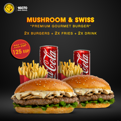 Mushroom & Swiss Double Combo 1